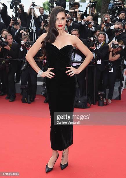 Adriana Lima attends the 'Sicario' Premiere during the 68th annual Cannes Film Festival on May 19 2015 in Cannes France