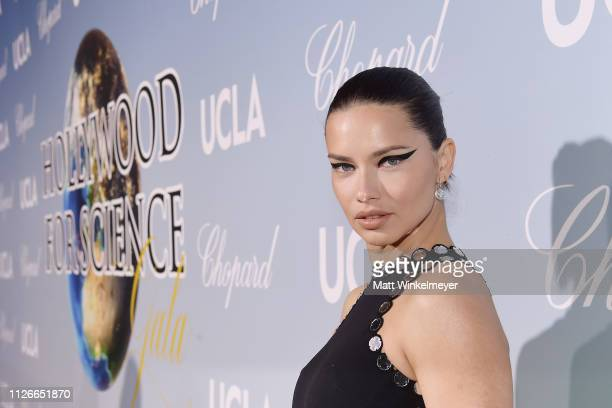 Adriana Lima attends the UCLA IoES honors Barbra Streisand and Gisele Bundchen at the 2019 Hollywood for Science Gala on February 21, 2019 in Beverly...
