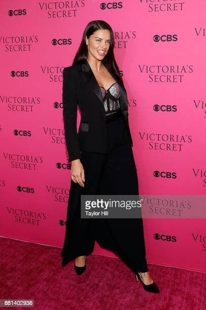 Adriana Lima attends the Victoria's Secret Viewing Party Pink Carpet celebrating the 2017 Victoria's Secret Fashion Show in Shanghai at Spring...