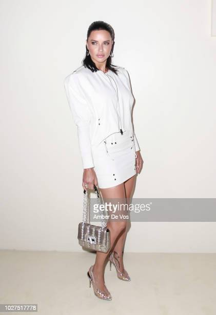 Adriana Lima attends Tom Ford SS19 Fashion Show at Park Avenue Armory on September 5, 2018 in New York City.