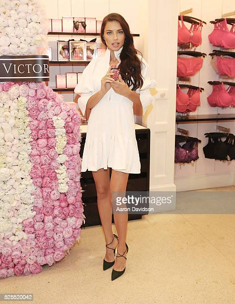 Adriana Lima attends Victorias Secret Bombshell Miami event at Victorias Secret store on Lincoln Road on April 28 2016 in Miami Beach Florida