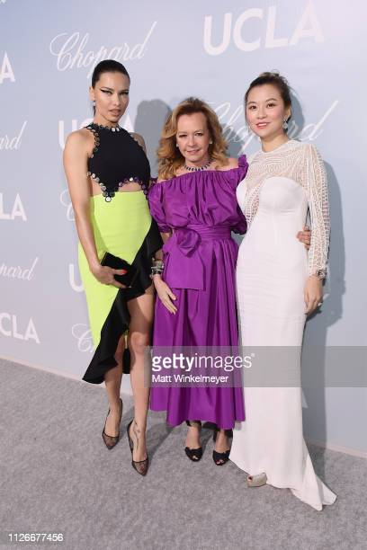 Adriana Lima Caroline Scheufele and guest attend the UCLA IoES honors Barbra Streisand and Gisele Bundchen at the 2019 Hollywood for Science Gala on...