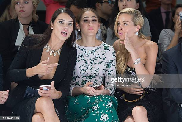 Adriana Lima Champoo Araya A Hargate and Petra Nemcova attend the Ralph Russo Haute Couture Fall/Winter 20162017 show as part of Paris Fashion Week...
