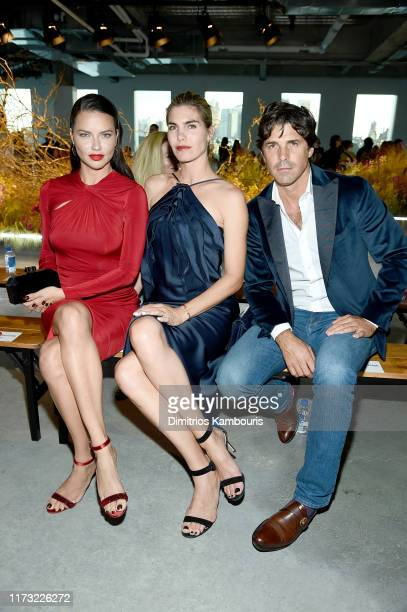 Adriana Lima Delfina Blaquier and Nacho Figueras attend the Jason Wu Collection front row during New York Fashion Week The Shows at Pier 17 on...