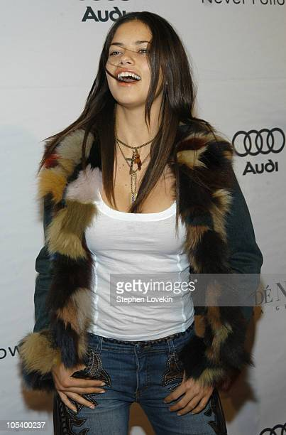 Adriana Lima during 2004 Audi Never Follow Gala Arrivals at Manhattan Center in New York City New York United States
