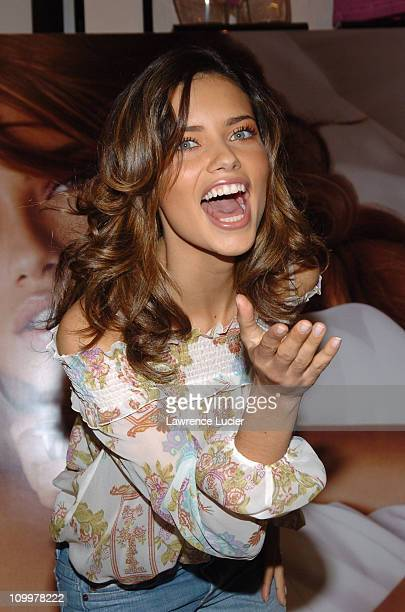 Adriana Lima during Adriana Lima Launches Victoria's Secret New Fragrance So In Love at Victoria's Secret Herlad Square in New York City New York...