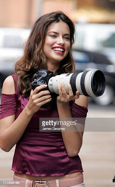Adriana Lima during Adriana Lima on Location for Maybelline Commercial in New York City June 16 2005 at Tribeca in New York City New York United...