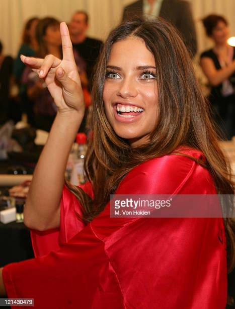 Adriana Lima during Backstage at the 10th Annual Victoria's Secret Fashion Show at Lexington Avenue Armory in New York New York United States