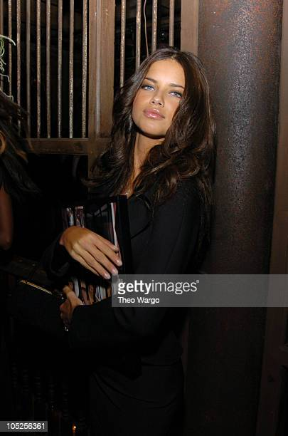 Adriana Lima during Victoria's Secret Backstage Sexy Photo Book Preview AfterParty at Spice Market in New York City New York United States