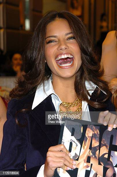 Adriana Lima during Victoria's Secret Backstage Sexy Photo Book Preview at Victoria's Secret Store 34th Street in New York City New York United States