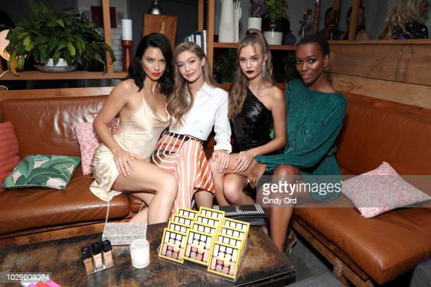 Adriana Lima Gigi Hadid Josephine Skriver and Herieth Paul attend the Maybelline x New York Fashion Week XIX Party at Mr Purple at the Hotel Indigo...