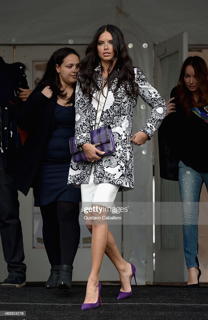Adriana Lima is seen around Lincoln Center - Day 1 - Mercedes-Benz Fashion Week Fall 2015 at Lincoln Center for the Performing Arts on February 12, 2015 in New York City.