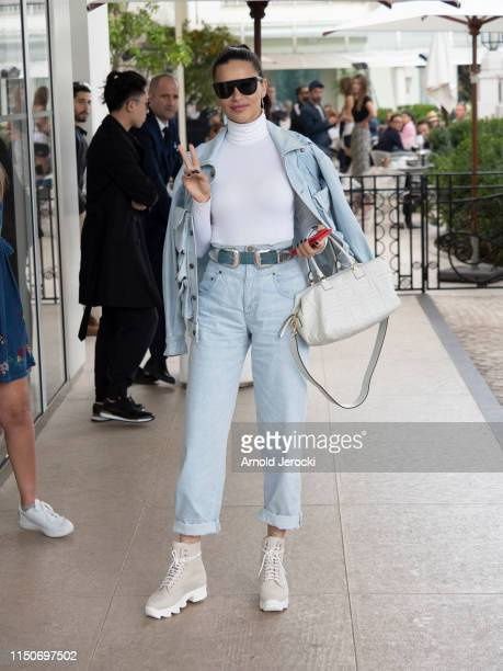 Adriana Lima is seen at the Martinez hotel during the 72nd annual Cannes Film Festival on May 21, 2019 in Cannes, France.