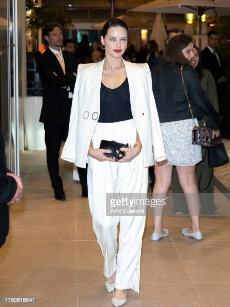 Adriana Lima is seen at the Martinez hotel during the 72nd annual Cannes Film Festival on May 21 2019 in Cannes France