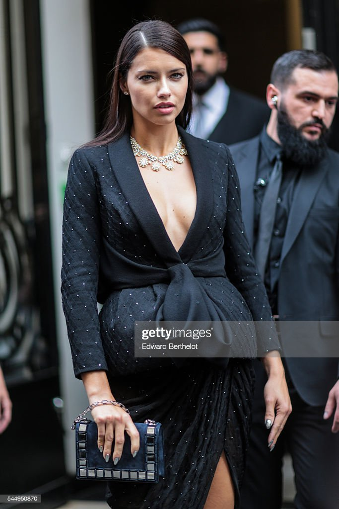 Adriana Lima Is Seen Before The Ralph Russo Show During Paris