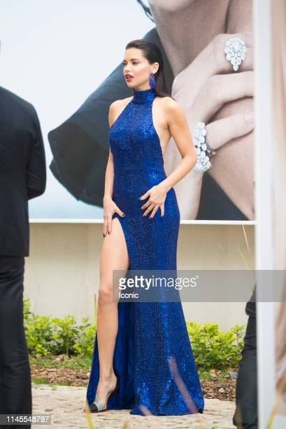 Adriana Lima is seen during the 72nd annual Cannes Film Festival on May 22, 2019 in Cannes, France.