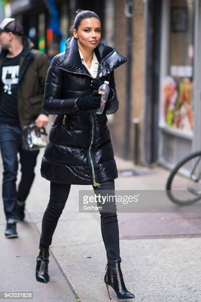 Adriana Lima is seen in Chelsea on April 4 2018 in New York City