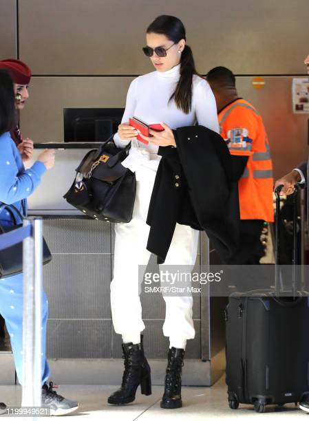 Adriana Lima is seen on February 10 2020 in Los Angeles California
