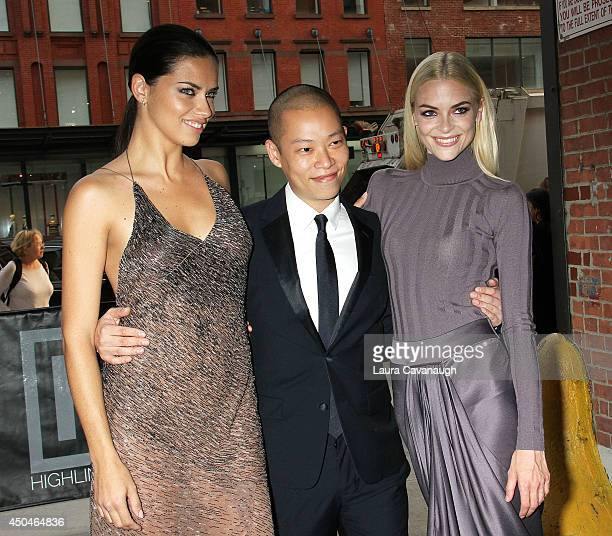 Adriana Lima Jason Wu and Jaime King attend the 2014 Young Friends Of ACRIA Summer Soiree at Highline Stages on June 11 2014 in New York City