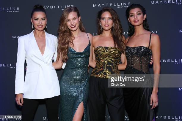 Adriana Lima Josephine Skriver Emily DiDonato and Livia Rangel attend the Maybelline New York Fashion Week party on September 07 2019 in New York City