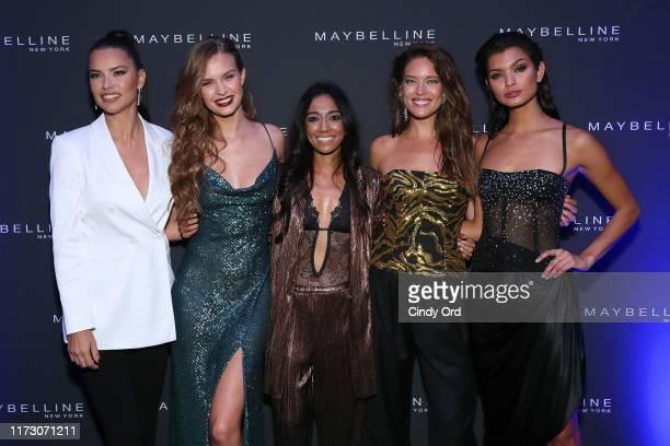 Adriana Lima Josephine Skriver Trisha Ayyagari Emily DiDonato and Livia Rangel attend the Maybelline New York Fashion Week party on September 07 2019...