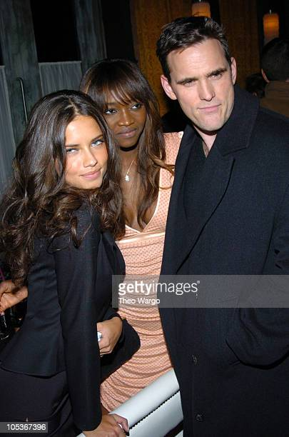 Adriana Lima Oluchi Onweagba and Matt Dillon during Victoria's Secret 'Backstage Sexy' Photo Book Preview AfterParty at Spice Market in New York City...