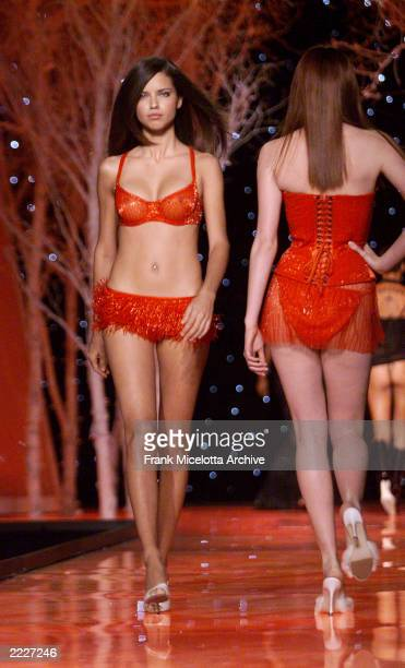 Adriana Lima on the runway at the Victoria's Secret Fashion Show 2001 in Bryant Park New York City 11/13/01 The show will air on ABC Television on...