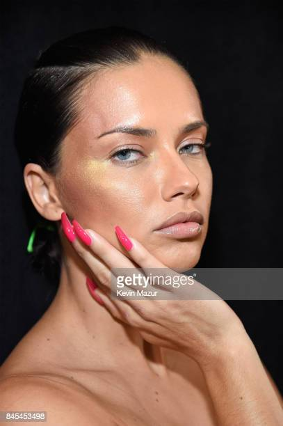 Adriana Lima poses backstage at the FENTY PUMA by Rihanna Spring/Summer 2018 Collection at Park Avenue Armory on September 10 2017 in New York City