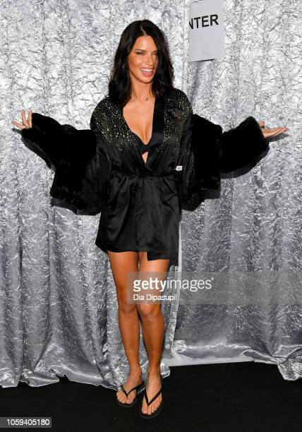 Adriana Lima poses backstage during the 2018 Victoria's Secret Fashion Show at Pier 94 on November 8 2018 in New York City