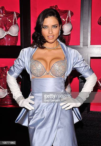 Adriana Lima reveals the USD2 million bombshell fantasy bra designed by Damiani exclusively for Victoria's Secret at Victoria's Secret Herald Square...