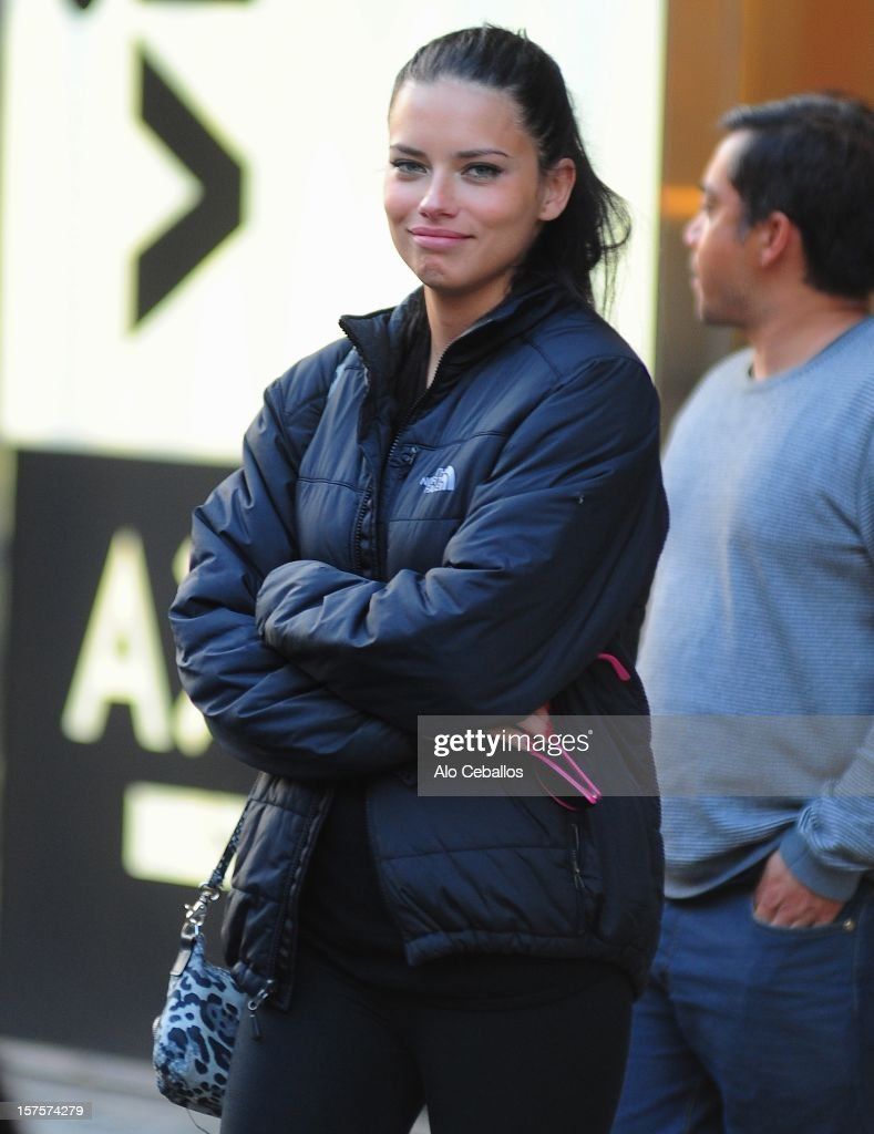 Adriana Lima sighting on December 4, 2012 in New York City.