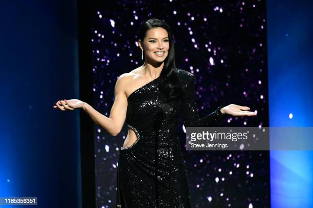 Adriana Lima speaks onstage during the 2020 Breakthrough Prize at NASA Ames Research Center on November 03 2019 in Mountain View California