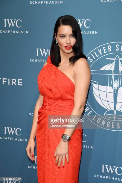 Adriana Lima walks the red carpet for IWC Schaffhausen at SIHH 2019 on January 15 2019 in Geneva Switzerland