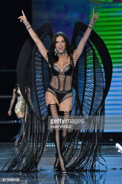 Adriana Lima walks the runway at the 2017 Victoria's Secret Fashion Show In Shanghai Show at MercedesBenz Arena on November 20 2017 in Shanghai China