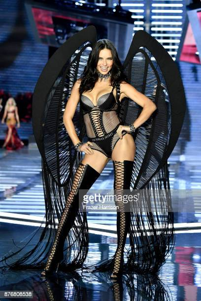 Adriana Lima walks the runway during the 2017 Victoria's Secret Fashion Show In Shanghai at Mercedes-Benz Arena on November 20, 2017 in Shanghai,...