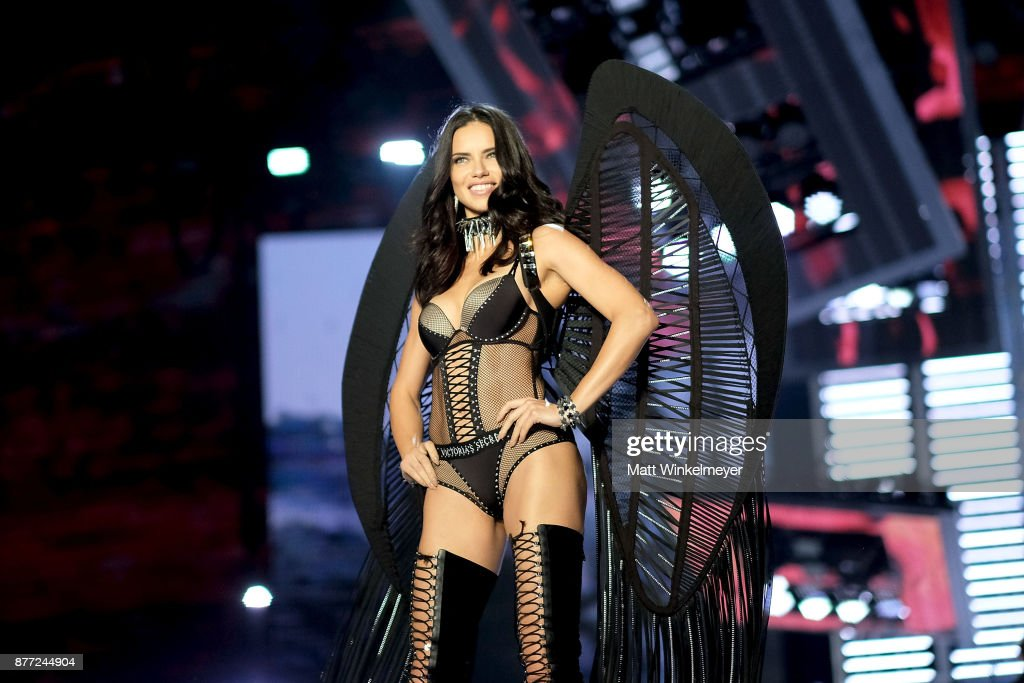 Adriana Lima walks the runway during the 2017 Victoria's Secret Fashion Show In Shanghai at Mercedes-Benz Arena on November 20, 2017 in Shanghai, China.
