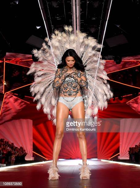 Adriana Lima walks the runway during the 2018 Victoria's Secret Fashion Show at Pier 94 on November 8 2018 in New York City