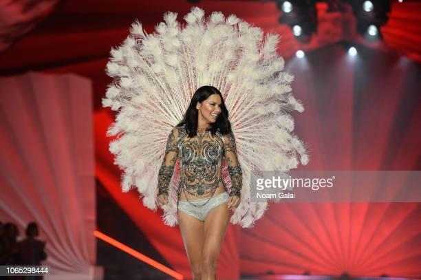 Adriana Lima walks the runway during the 2018 Victoria's Secret Fashion Show at Pier 94 on November 08, 2018 in New York City.