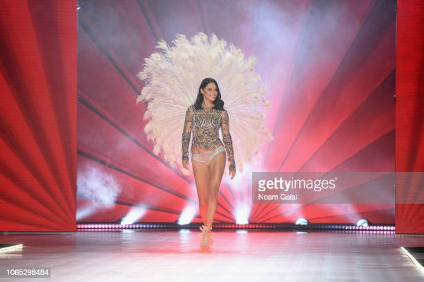 Adriana Lima walks the runway during the 2018 Victoria's Secret Fashion Show at Pier 94 on November 08 2018 in New York City