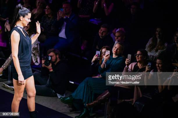 Adriana Lima walks the runway during the Maybelline Show 'Urban Catwalk Faces of New York' at Vollgutlager on January 18 2018 in Berlin Germany