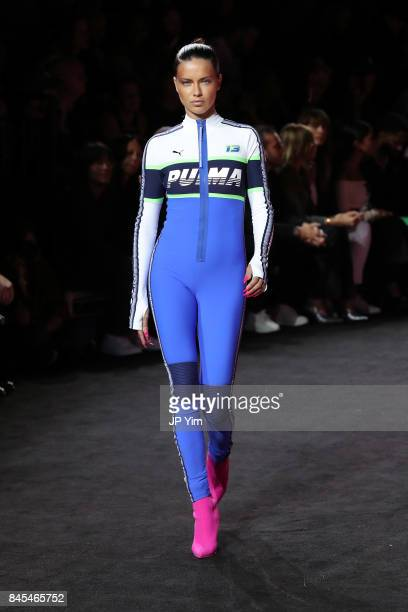 Adriana Lima walks the runway wearing Look 56 at the FENTY PUMA by Rihanna Spring/Summer 2018 Collection at Park Avenue Armory on September 10 2017...