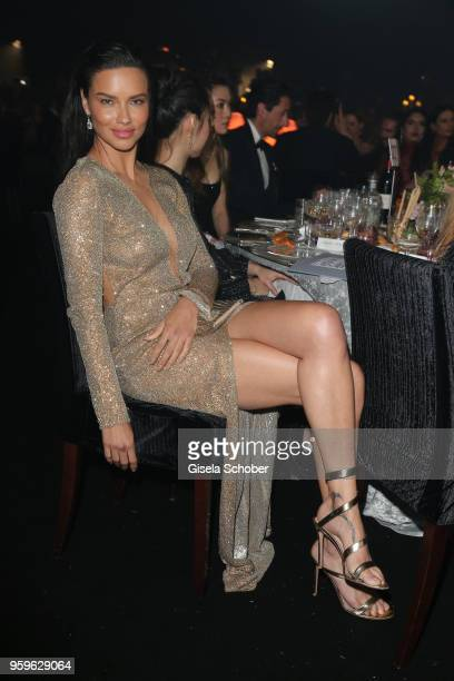 Adriana Limaattends the amfAR Gala Cannes 2018 dinner at Hotel du CapEdenRoc on May 17 2018 in Cap d'Antibes France