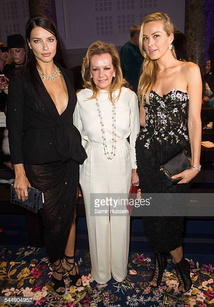 Adriana LimaCaroline Scheufele and Petra Nemcova attend the Ralph Russo Haute Couture Fall/Winter 20162017 show as part of Paris Fashion Week on July...