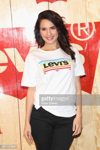 Adriana Louvier attends the Levi's Flagship Madero store opening at historical center streets on March 22 2018 in Mexico City Mexico