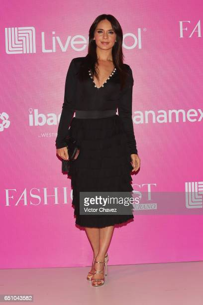 Adriana Louvier attends the Liverpool Fashion Fest Spring/Summer 2017 at Televisa San Angel on March 9 2017 in Mexico City Mexico