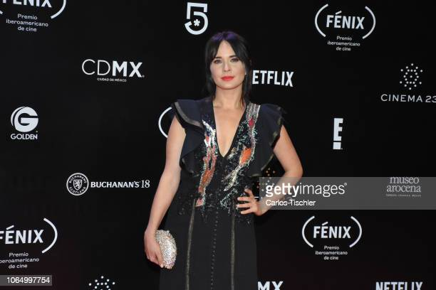 Adriana Louvier poses for photos during the red carpet of Iberoamerican Fenix Film Awards 2018 at Teatro de la Ciudad Esperanza Iris on November 7...
