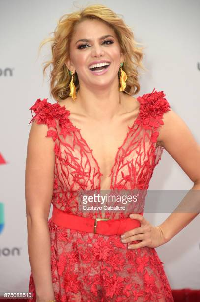 Adriana Lucia attends the 18th Annual Latin Grammy Awards at MGM Grand Garden Arena on November 16 2017 in Las Vegas Nevada