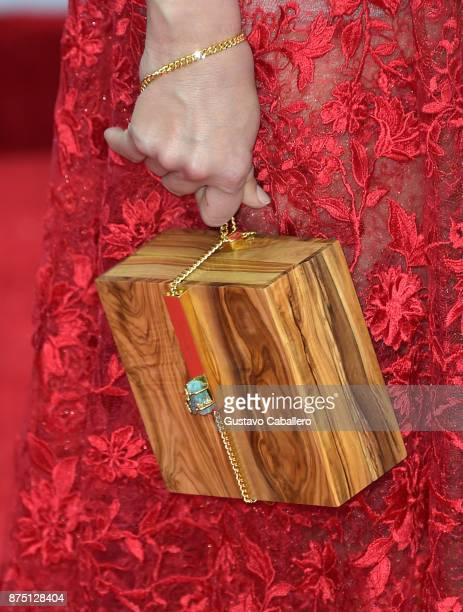 Adriana Lucia purse detail attends the 18th Annual Latin Grammy Awards at MGM Grand Garden Arena on November 16 2017 in Las Vegas Nevada