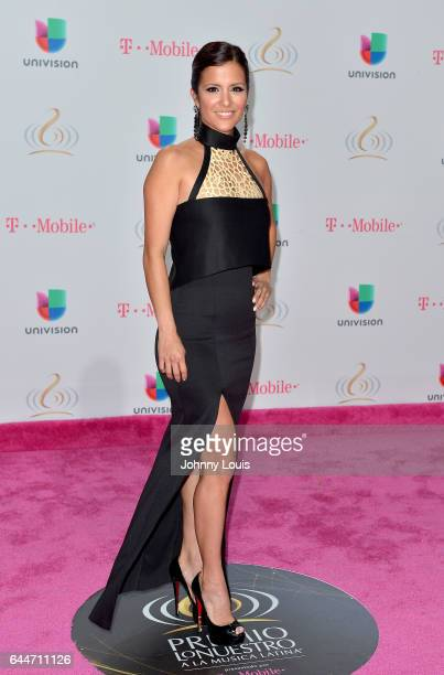 Adriana Monsalve attends Univision's 29th Edition of Premio Lo Nuestro A La Musica Latina at the American Airlines Arena on February 23 2017 in Miami...