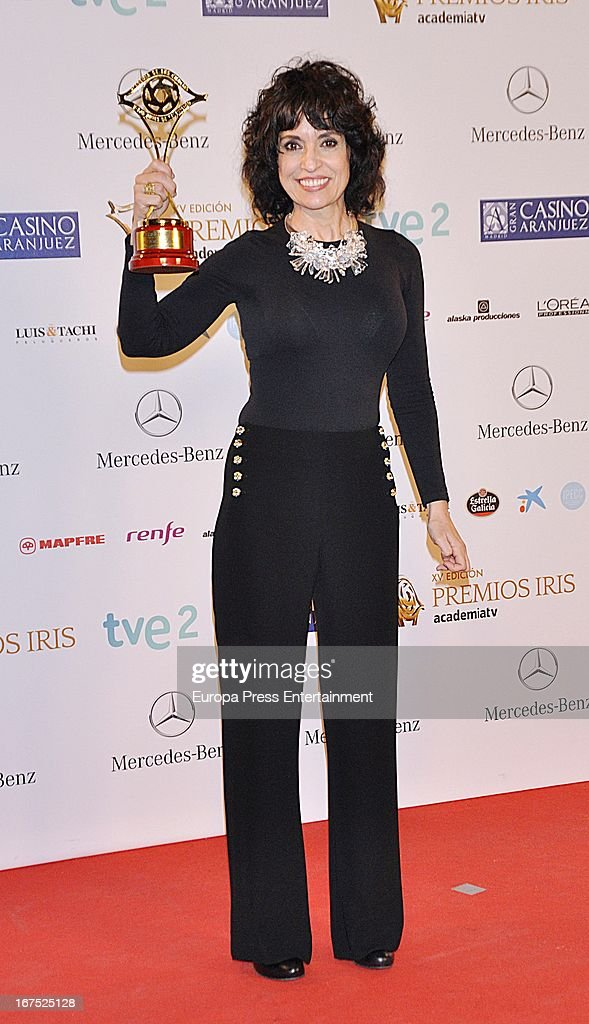 Adriana Ozores attends Iris Awards 2013 on April 25, 2013 in Madrid, Spain.
